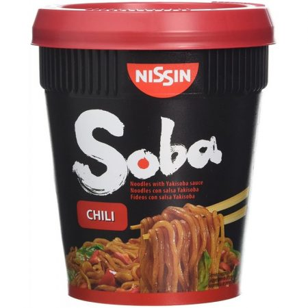 Nissin Foods Soba Cup instant tészta leves Chili - 92g